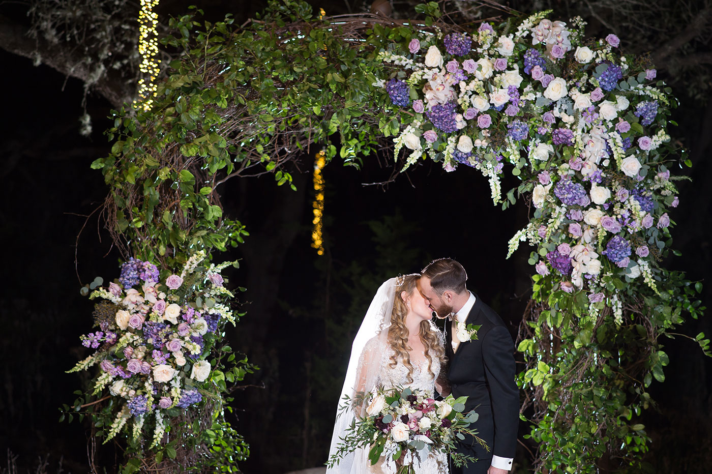 Indoor Enchanted Forest Wedding Reception
