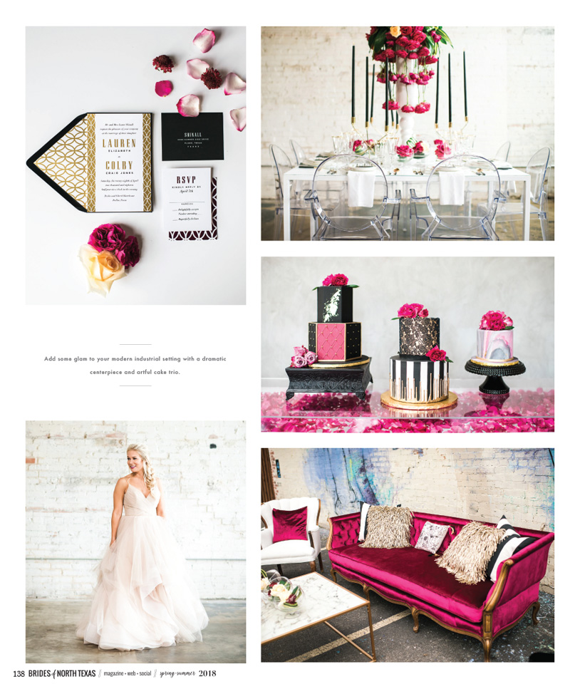 Modern Glam Wedding by Dallas Wedding Planner